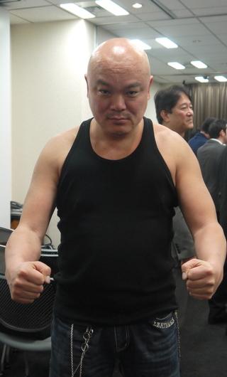 この方がPepperの頭脳を作った光吉俊二先生。極真空手五段の威圧感