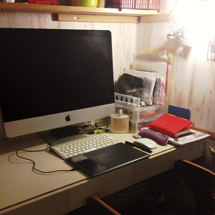 自宅キッチンを改造して作った仕事スペース
