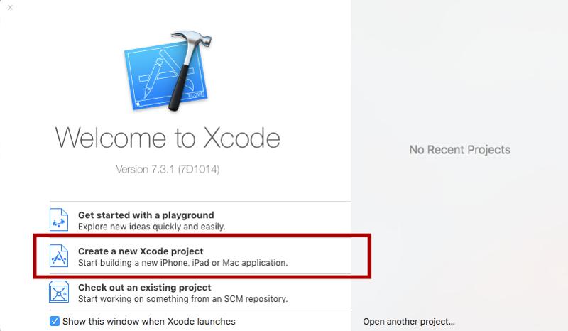 Xcode新規プロジェクト