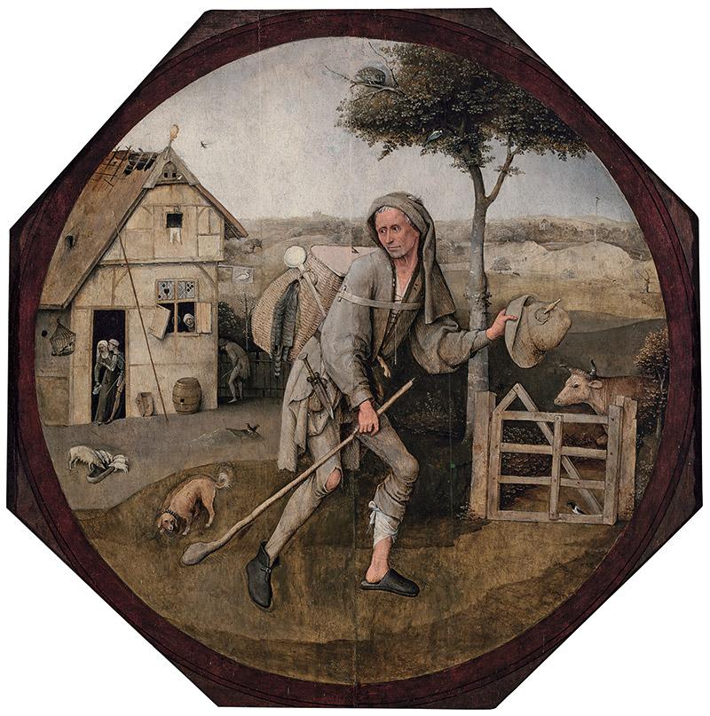 ヒエロニムス・ボス『放浪者(行商人)』 1500年頃 Museum BVB, Rotterdam, the Netherlands