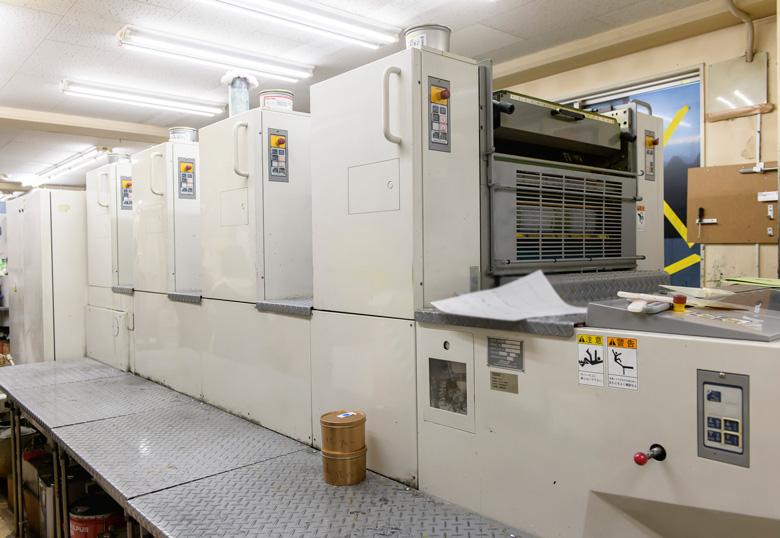 情報印刷株式会社で使われているオフセット印刷機