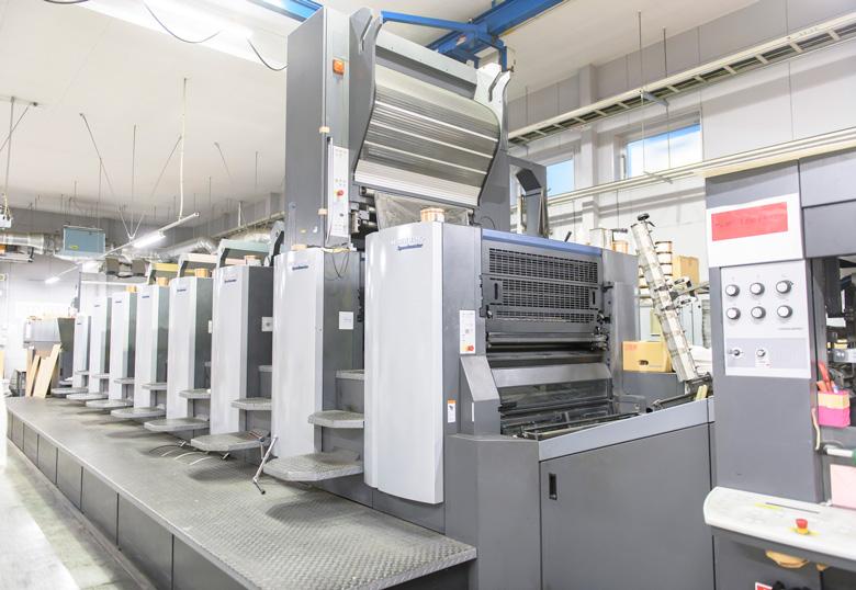 情報印刷株式会社で使われているコールドフォイル印刷機