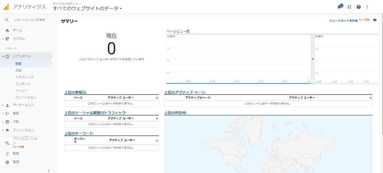 GoogleAnalyticsリアルタイムレポート