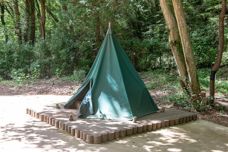 ムーミンバレーパーク:スナフキンのテント